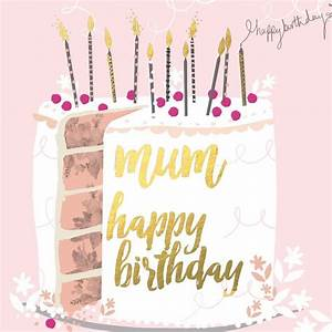 Beautiful birthday card featuring a birthday cake, with ...