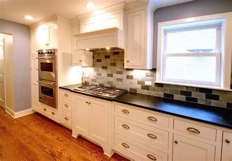 Craftsman style cabinets,oak hardwood flooring