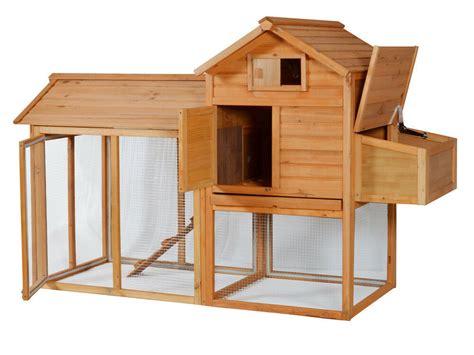 portable wooden rabbit hutch deluxe hen house chicken coop