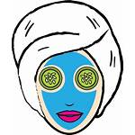 Mask Face Clipart Beauty Icon Daily Facial