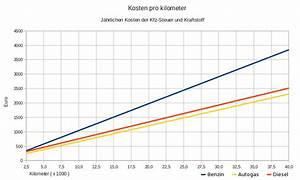 Kosten Pro Gefahrenen Kilometer Berechnen : kraftstoff km kosten ~ Themetempest.com Abrechnung