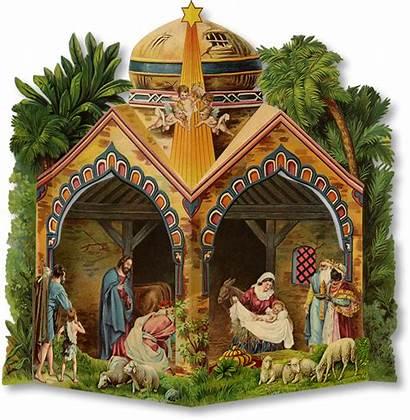 Nativity Christmas Transparent Scene Paper Papermodelkiosk Creche
