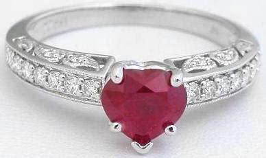 heart shape ruby engagement ring gr