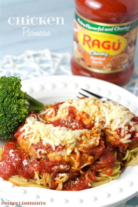 Reviewed by millions of home cooks. Chicken Parmesan with Ragu Pasta Sauce - Embellishmints