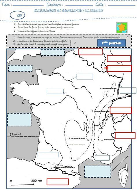 Carte Des Fleuves De Ce2 by G 233 Ographie Une 233 Valuation Sur La Fronti 232 Res