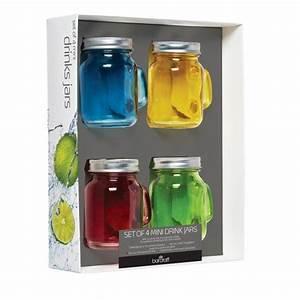 Mason Jar Paille : mini verre mason jar color avec paille 100ml x4 ~ Teatrodelosmanantiales.com Idées de Décoration