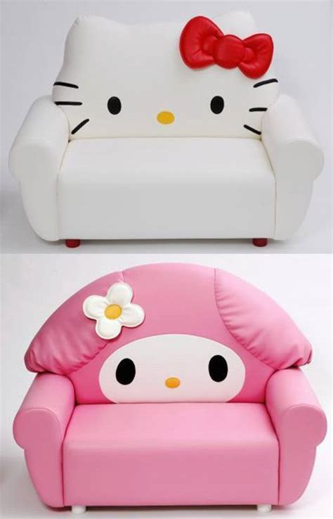 hello kitty sofa chair sanrio sofa featuring hello and my melody on sale now soranews24