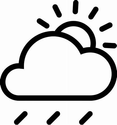 Rain Cloud Sun Icon Clipart Drawing Snow