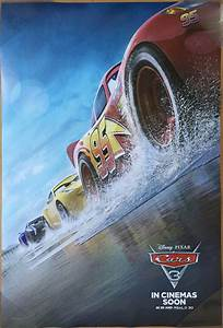 CARS 3 MOVIE POSTER 2 Sided ORIGINAL INTL Version C 27x40 ...