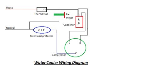 Wiring Diagram Refrigerator Water Cooler