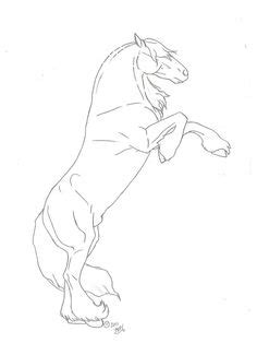 Jumping horse coloring page   Horse coloring, Horse