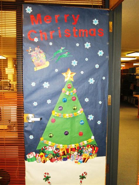 door decorating in our office simple christmas pinterest