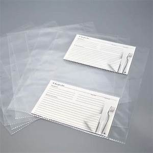 recipe card sheet protectors letter size pages With letter size sheet protectors