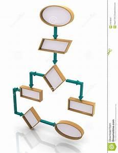 3d Program Flow Chart Stock Illustration  Illustration Of