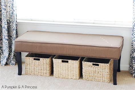 storage bench organization