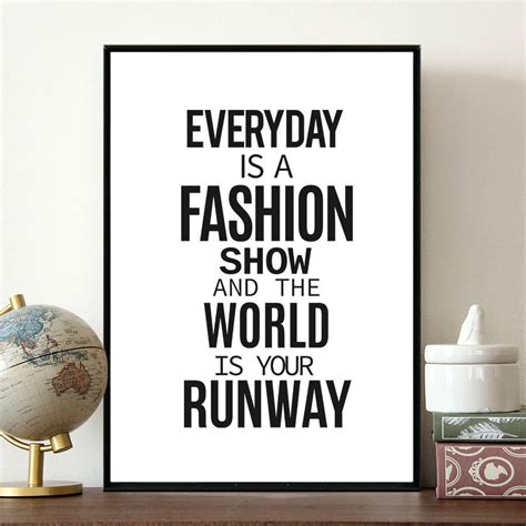 inspirational fashion quote by coco and dee notonthehighstreet com