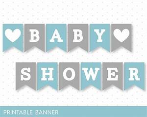 blue banner grey banner oh baby banner oh boy banner With baby letters for baby shower