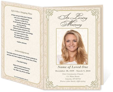 Funeral Handouts Template by 214 Best Creative Memorials With Funeral Program Templates