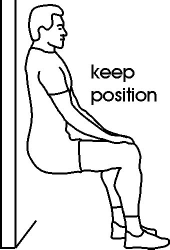 position de la chaise cross tips fitness test