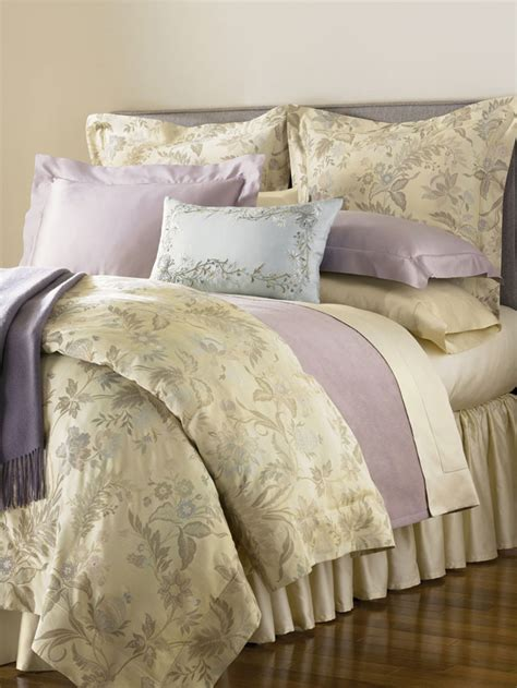 sferra sonya duvet cover shams queen 3 pc chagne cotton