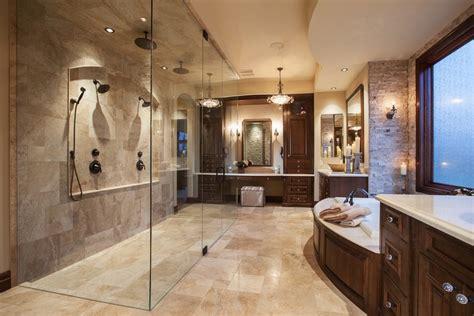 calgary travertine walls bathroom mediterranean