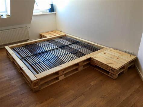 pallet platform bed  nightstands pallet furniture diy
