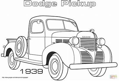 Coloring Dodge Pages Pickup Truck Trucks 1939