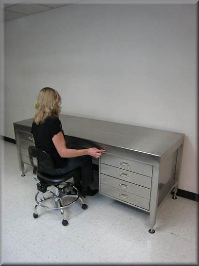 Stainless Desk Steel Table Executive Adjustable Bench