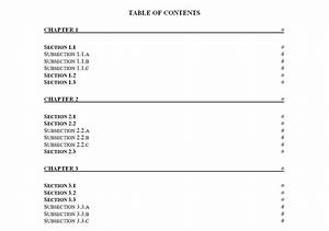 Customizable Planner Template Table Of Contents Template Table Of Contents Template Free
