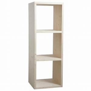 étagère Bois Brut : etag re 3 cubes en bois brut boisnature 39 l ~ Melissatoandfro.com Idées de Décoration