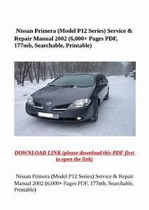 Manuals  Nissan Primera P12 Service Repair Manual Pdf By