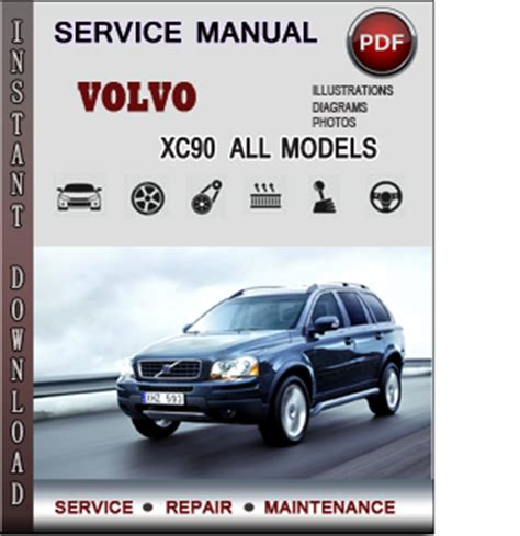 volvo xc service repair manual  info service