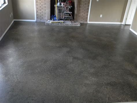 flooring concrete flooring fascinating concrete floor and beige wall plus brick fireplace ideas for home decor