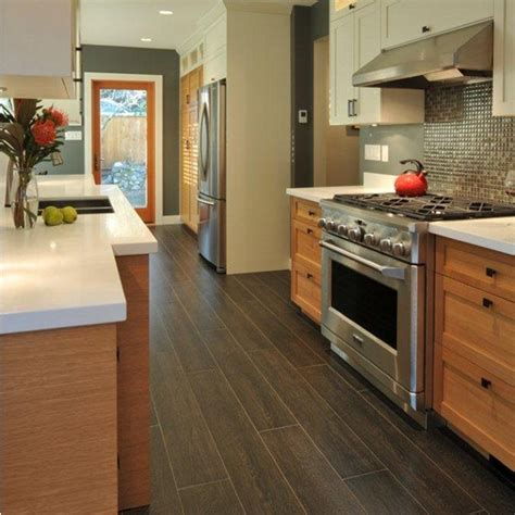 kitchen wood tile floor 30 kitchen floor tile ideas designs and inspiration 2016 6571