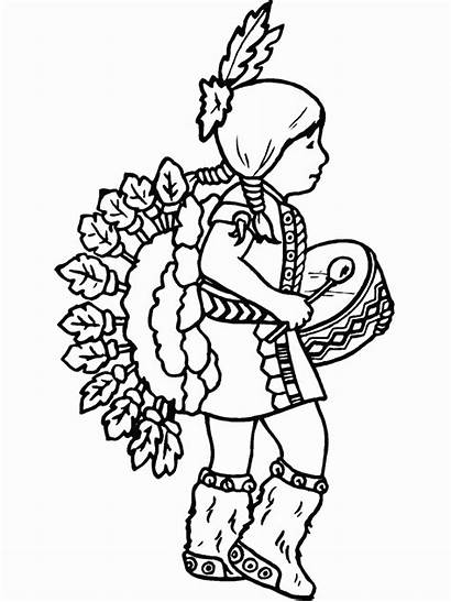 Coloring Pages Native American Indian Sheets Advertisement