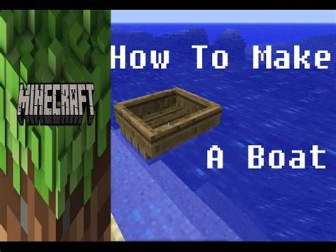 How Do You Make A Boat In Minecraft Pocket Edition by Minecraft How To Make Boat