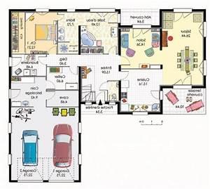 plan maison 120m2 4 chambres plan de maison plein pied With plan maison 120m2 4 chambres garage