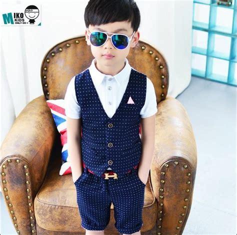summer  boys dress suit western style fashion fake