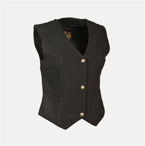 denim vest 39 s 2 pocket denim vest plain black bikers gear