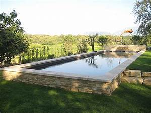 marinal traditional monoblock concrete swimming pool With construire sa piscine en parpaing
