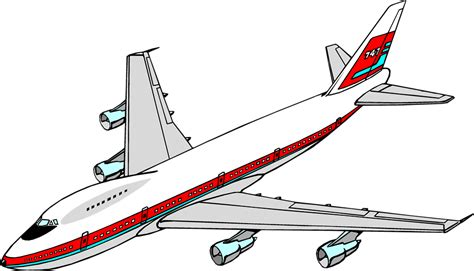 airplane clipart airplane free stock photo illustration of a 747