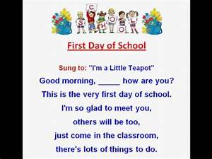 First Day of School /Kids Back to School Rhymes and Songs ...
