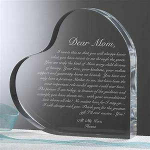 14065 a letter to mom personalized heart sculpture for A letter to mom personalized heart sculpture