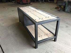 Meuble En Fer : meuble fer bois industriel r alisation m tal meuble ~ Melissatoandfro.com Idées de Décoration