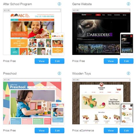 wix free templates wix review website builder that is