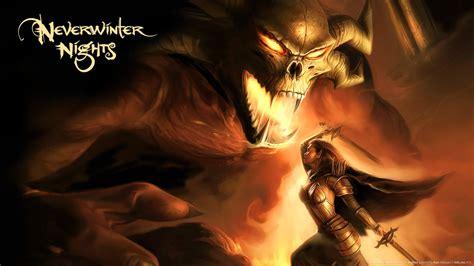 neverwinter nights demon warrior fantasy art  lady