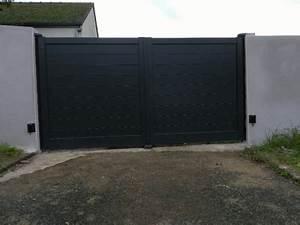 Garage Coueron : dov ouvertures portail battant en aluminium motorise cou ron ~ Gottalentnigeria.com Avis de Voitures
