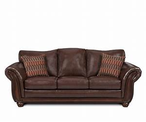 Sofas leather sleeper sofas pattern cushions brown sofa for Leather sofa sleeper