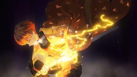kimetsu  yaiba zenitsu wallpaper engine anime yuinime
