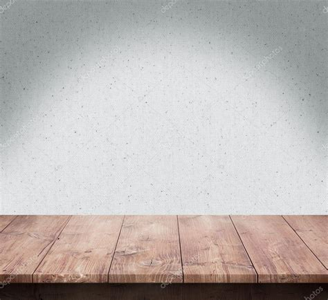wood table with fabric texture background stock photo